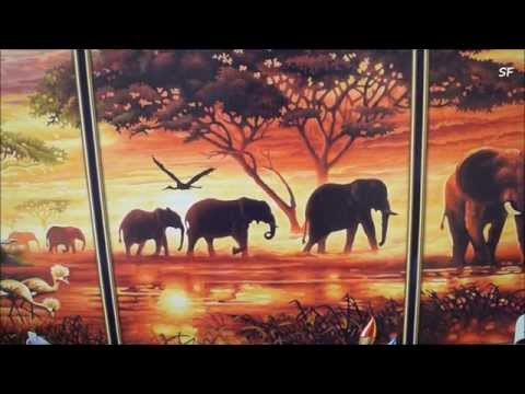 Обзор картины по номерам Schipper .Триптих Африканские слоны