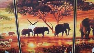 Обзор картины по номерам Schipper .Триптих Африканские слоны(Обзор картины по номерам Schipper .Триптих Африканские слоны., 2015-03-21T09:53:48.000Z)