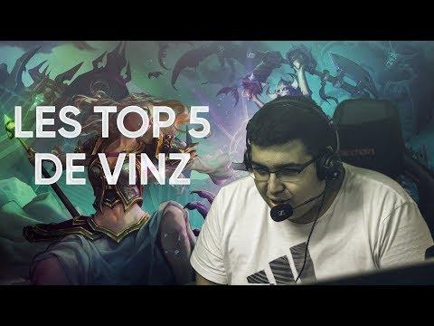 LES TOP 5 de Vinz sur ICC !
