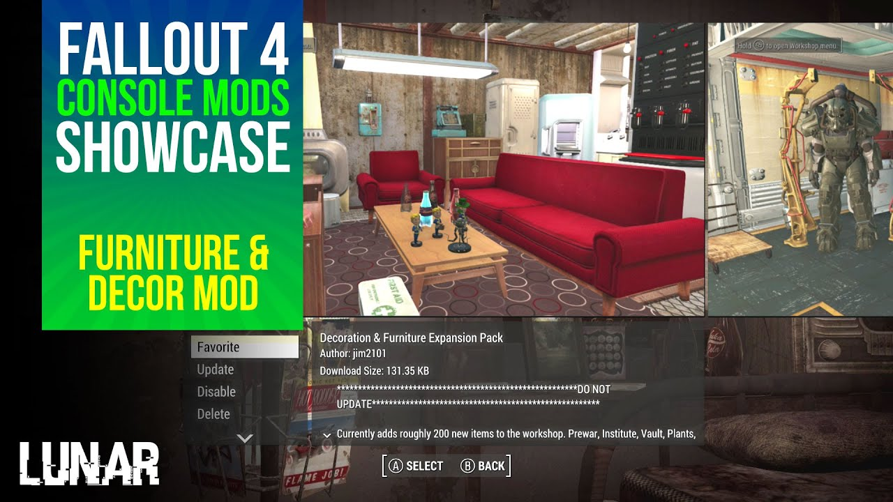 Fallout 4 console mods week 8 decoration furniture expansion pack