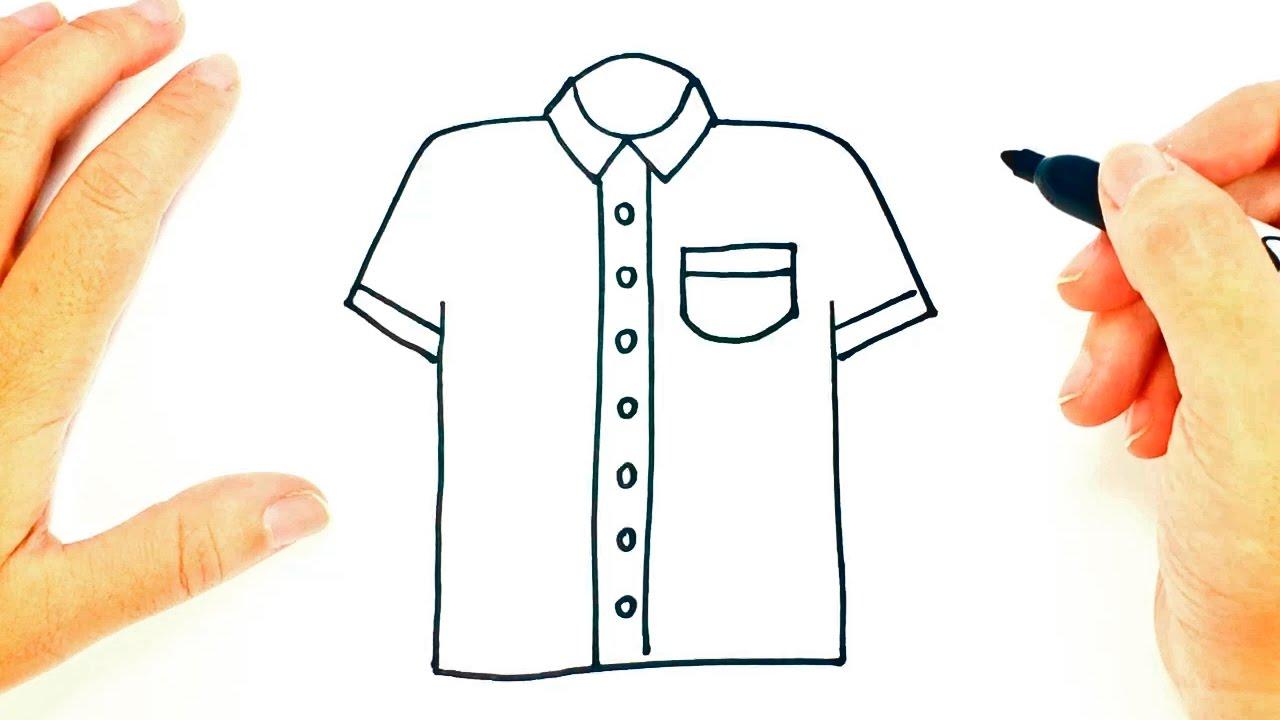 Cmo dibujar una Camisa paso a paso  Dibujo fcil de una Camisa