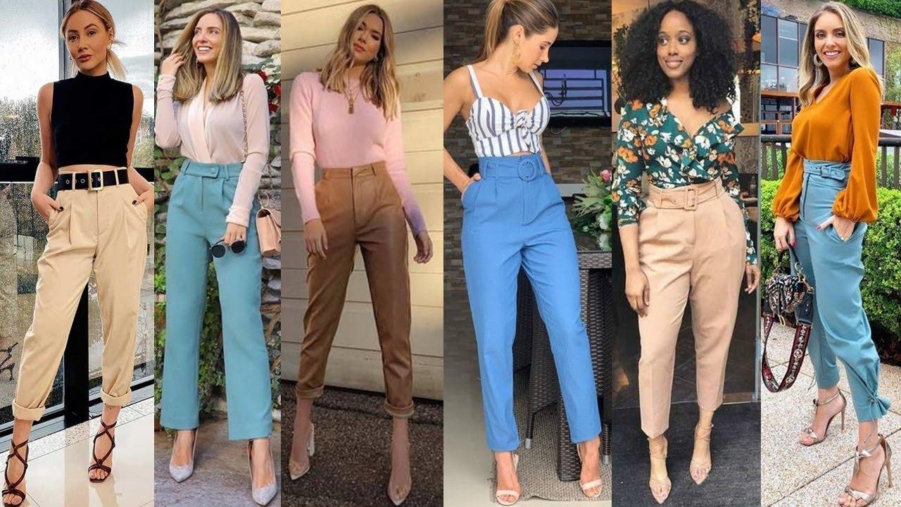 Outfits De Moda 2020 Con Pantalones De Vestir 2020 Pantalones Sastreros Tendencia 2020 Youtube