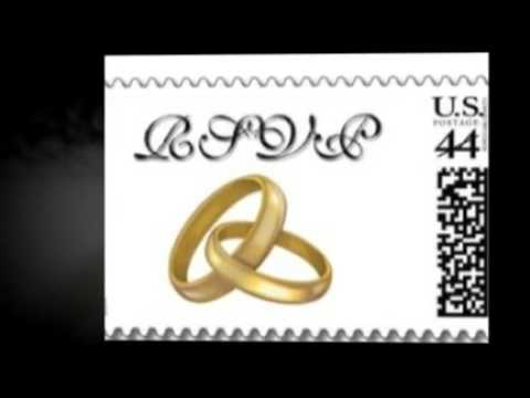 USPS 2009 Wedding Rings Postage Stamps For Invitations