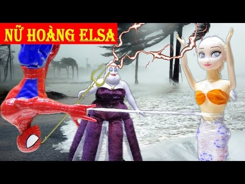Siêu nhân người nhện cứu Nữ hoàng băng giá Elsa thoát chết khỏi tay phù thủy Ursula - Nàng tiên cá