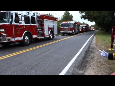 Accord District Chief Edward Miller Funeral Procession. 09/22/15.