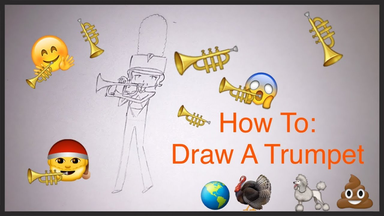 Uncategorized How To Draw A Trumpet how to draw a trumpet youtube trumpet
