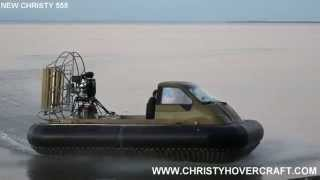 New Russian Hovercraft Christy 555 for hunting & fishing / Недорогое СВП для охоты и рыбалки.