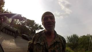 Дзержинск, выход со Славянска. Соединение с колонной движущейся в Донецк.