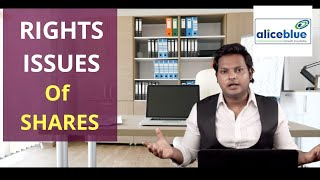 Rights issue of shares