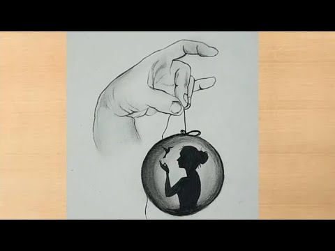 Creative Pencil Drawing Of Girl Inside Ball Girl Drawing Youtube