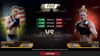 EA Sports UFC | Ronda Rousey Vs Holly Holm | Android Gameplay