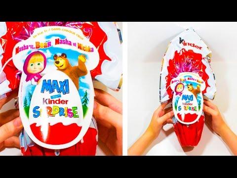 МАША И МЕДВЕДЬ ОГРОМНЫЙ Киндер Сюрприз МАКСИ Большая игрушка внутри Kinder GRANSORPRESA