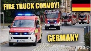 [Löschzug + EFD] Feuerwehr Chemnitz + HLF & TLF FW2 Auf Alarmfahrt! // German Firefighting Convoy!