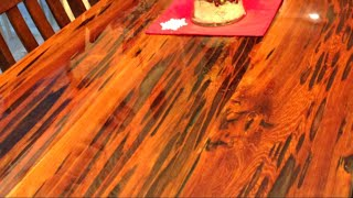 How to Build an Epoxy Dining Table using Reclaimed Pecky Cypress Wood