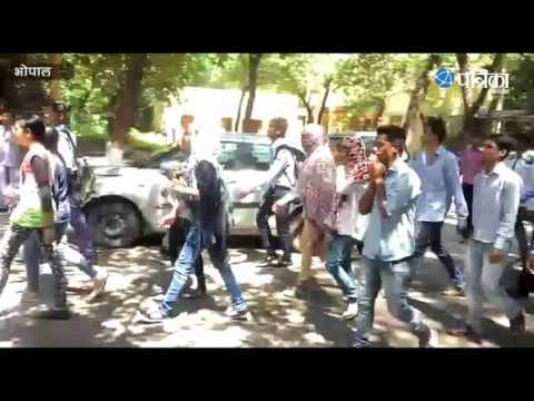 Exclusive Video   IT student commotion in Barkatullah University   Bhopal
