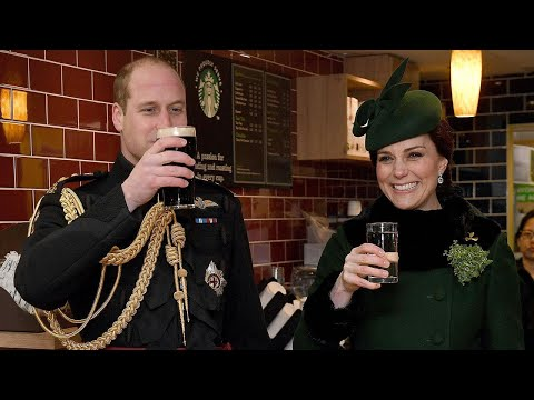 Pregnant Kate Middleton Celebrates St. Patrick's Day With Prince William  See the Pics!