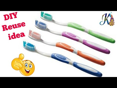 Best out of waste tooth brush craft ideas diy art and for Brush craft vs artis
