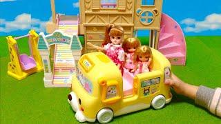 リカちゃん ようちえんバス メロディバス / Licca-chan Doll Kindergarten School Bus Toy thumbnail