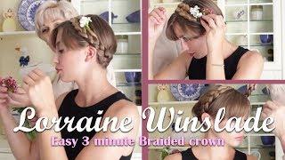 Easy 3 minute Braided Crown hair