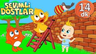 Yüksek Alçak ve Sevimli Dostlar bebek şarkıları | Çocuk şarkıları | Adisebaba TV Nursery Rhymes