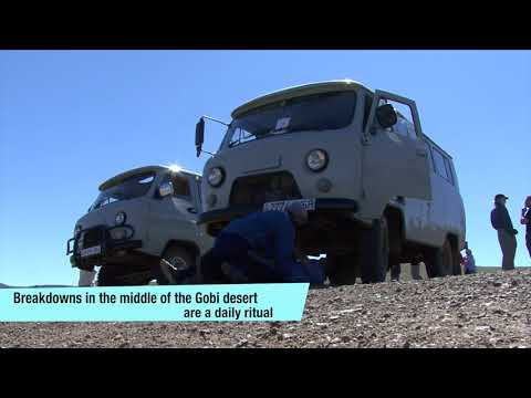Traveling on earth roads in Mongolia