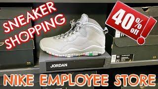 Nike Employee Store SNEAKER SHOPPING!