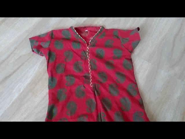 kurti collar neck design cutting & stitching