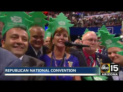 Christmas Tree People Identified at Republican National Convention