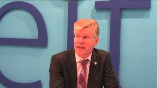 Willem Jonker CEO EIT ICT Labs presenting opportunities at MWC