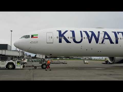 Kuwait 777-300er push and start from Shannon Airport