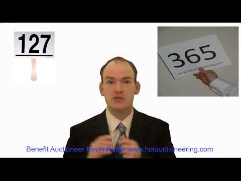 Charity Auction Idea 82: Use Bidder Numbers Or Bidder Paddles