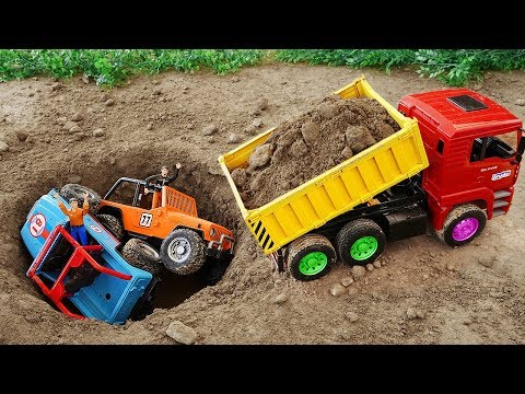 Excavator Fire Truck and Rescue Dump Truck Toys