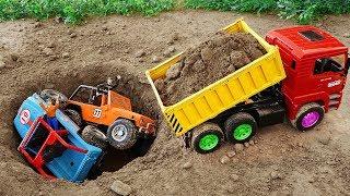 포크레인 덤프 트럭 중장비 자동차 구출 놀이 Excavator Dump Truck Rescue