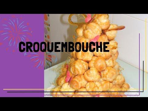 Receta de croquembouche, postre francés de profiteroles