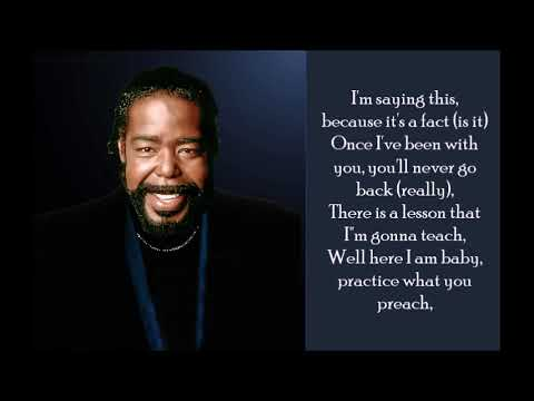 Practice What You Preach - Barry White - (Lyrics)