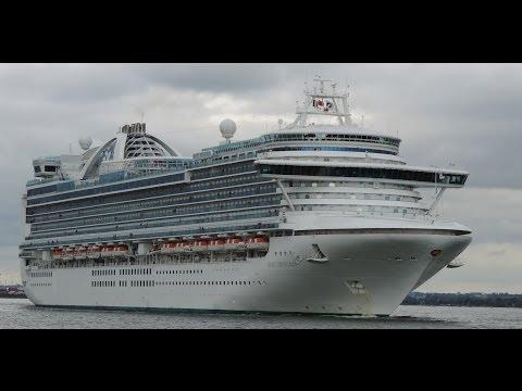 Cruise ship  Ruby Princess leaving Dublin Port
