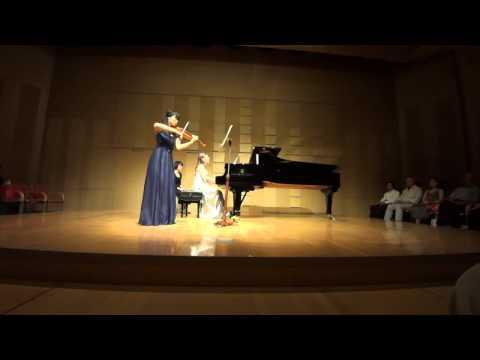 Ravel: Sonata for violin & piano in G Major, II /Ami Yokoyama & Sara Costa