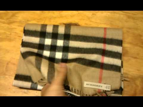 a8fd63bc99b72 Burberry Giant Check Cashmere Scarf - YouTube
