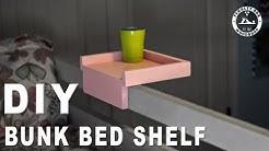DIY Hook On Bunk Bed Shelf    Simple Build