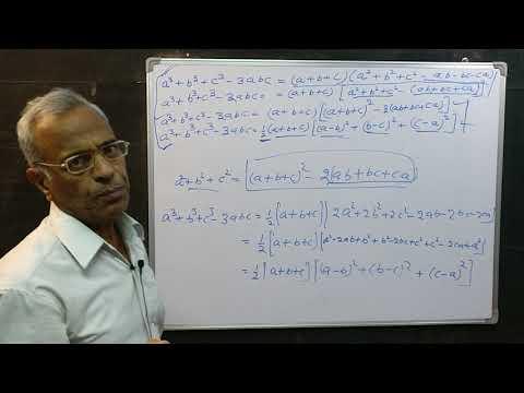 (147) (a^3+b^3+c^3-3abc)=(a+b+c)(a^2+b^2+c^2-ab-bc-ca) के अन्य रुप। Maths for all.