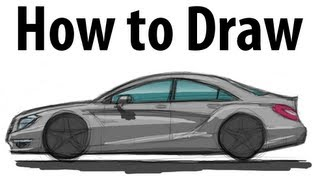 How to draw a Mercedes Benz CLS - Sketch it quick!