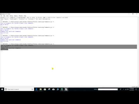 Chapter 02: 3- Python Comments | Putting comments in Python | Single Line &  Multiline Comments
