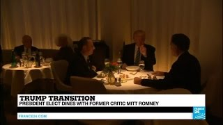 US   President elect Trump dines with Mitt Romney     do opposite ultimately attract?