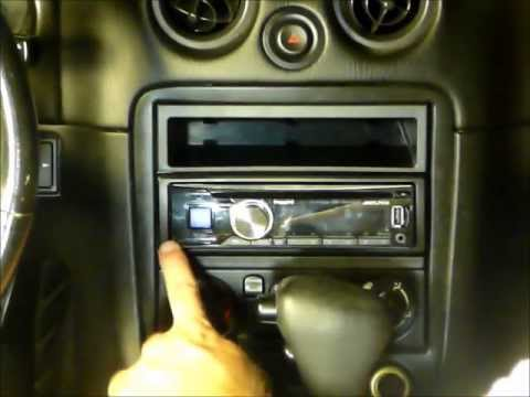 1999 mazda miata oem bose stereo replacement youtube. Black Bedroom Furniture Sets. Home Design Ideas