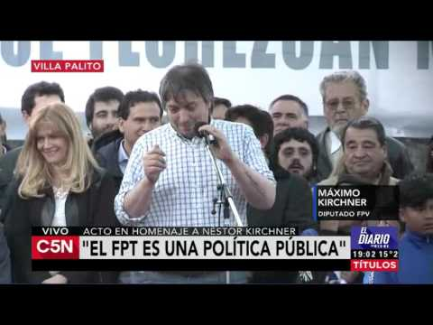 C5N - Homenaje a Nestor Kirchner Habla Máximo Kirchner