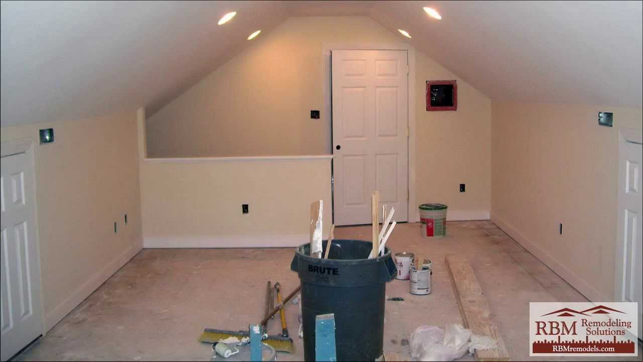 finished small attic space - Finishing an attic to living space