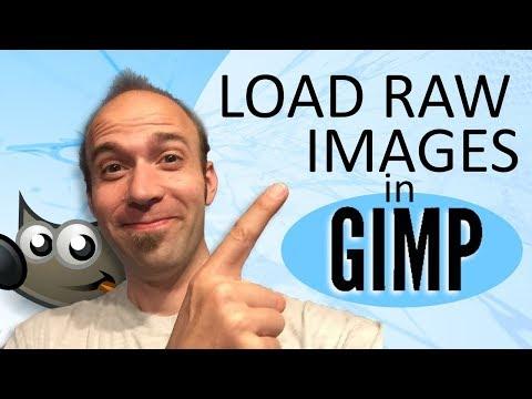 Load RAW Images into GIMP thumbnail