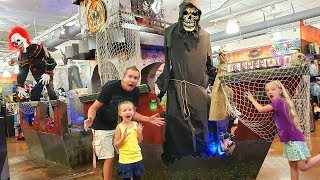 Taking Baby to Spirit Halloween! Who Gets Scared First?!