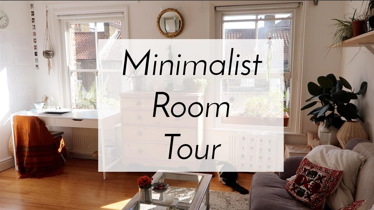 living room office plant decor updated tour minimalist home youtube