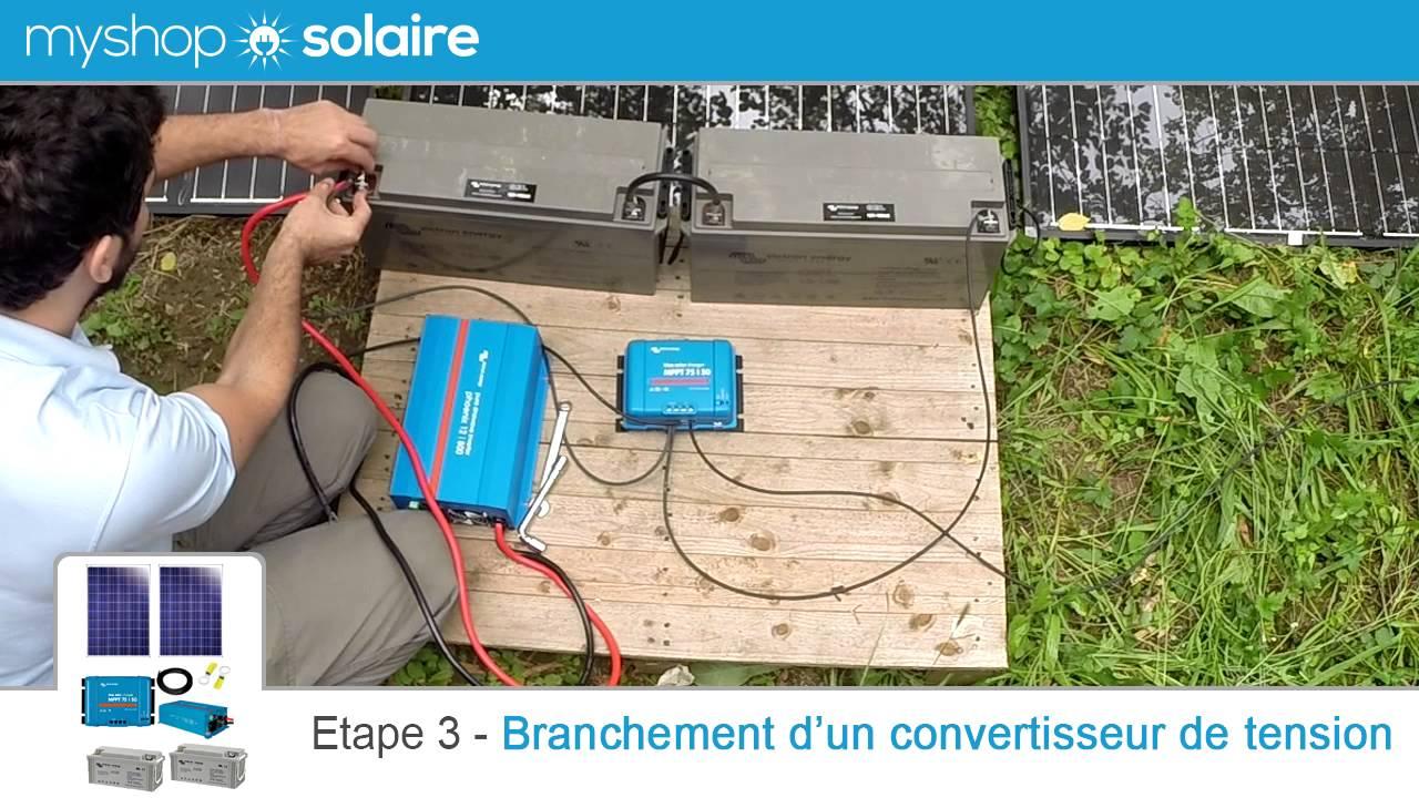 myshop solaire montage d 39 un kit solaire 500w autonome 24v convertisseur 230v youtube. Black Bedroom Furniture Sets. Home Design Ideas